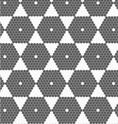Gray small hexagons forming hexagons vector image