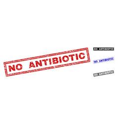 Grunge no antibiotic scratched rectangle vector