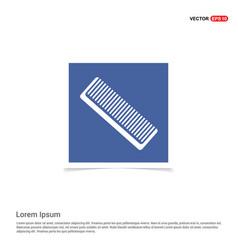 Hair comb icon - blue photo frame vector