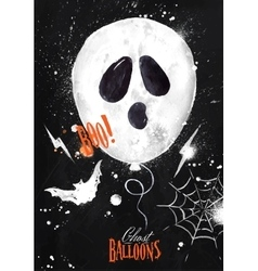 Halloween poster balloon vector