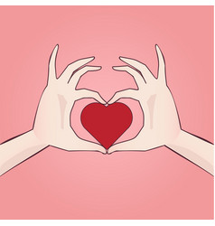 Hand drawn heart shaped anime style manga vector