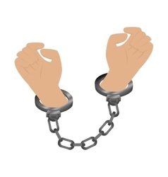 Handcuffs police isolated icon vector