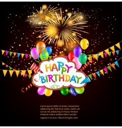Happy birthday holiday background vector
