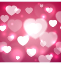 Hearts for Valentines Day Background vector image