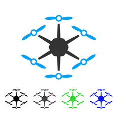 Hexacopter flat icon vector