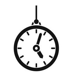 Hypnosis pendulum clock icon simple style vector