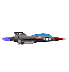 Jet-fighter on white vector