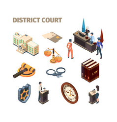 Justice legal isometric government law evidence vector