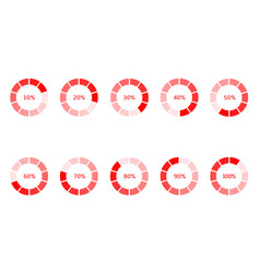loader progress icons vector image