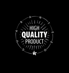 mark best quality product vector image