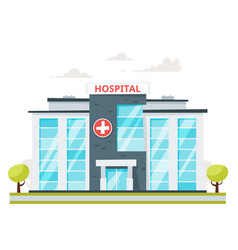 medical hospital building vector image