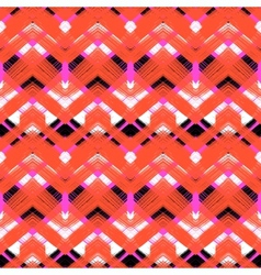 Multicolor hand drawn pattern zigzag vector image