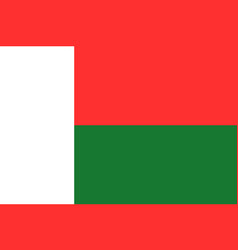 National flag of madagascar vector