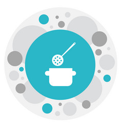 of cook symbol on stewpot icon vector image