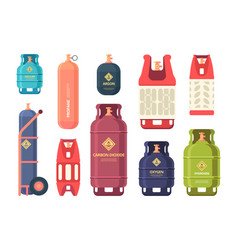 oil gas cylinder industrial steel bottles for vector image