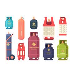 Oil gas cylinder industrial steel bottles vector
