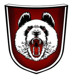 panda mascot emblem design with typography emblem vector image
