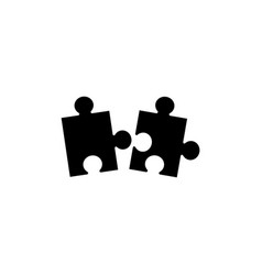 piece of puzzle flat icon vector image