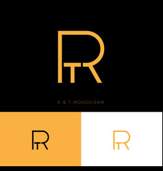 R and t monogram logo letters vector