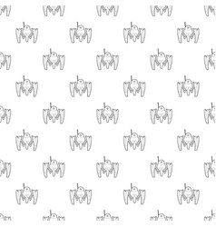 robot crab pattern seamless vector image