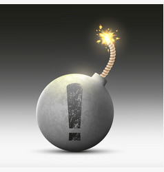 round bomb with a wick vector image