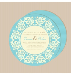 Round card blue vector