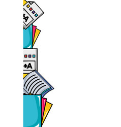 School tools education background design vector