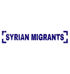 Scratched textured syrian migrants stamp seal vector