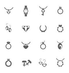 Set of jewelery icons vector image
