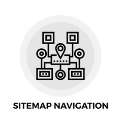 Sitemap Navigation Line Icon vector image