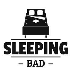 Sleeping bad logo simple black style vector