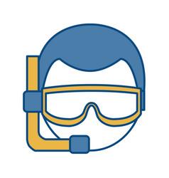 Snorkel equipment icon vector