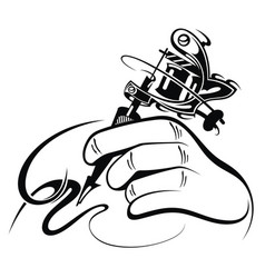 Tattoo artist vector