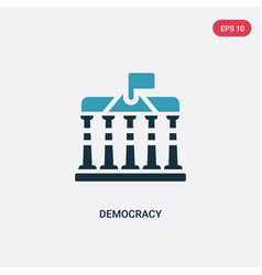 Two color democracy icon from united states vector