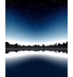 urban skyline night vector image