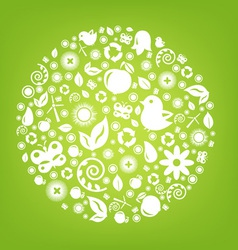 Various Ecology Icons vector