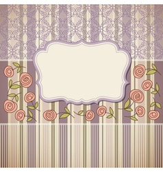 vintage backgroundgreeting card or invitation vector image