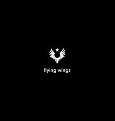 vintage retro simple eagle hawk falcon phoenix vector image