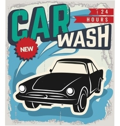 Vintage Retro Wash Car vector