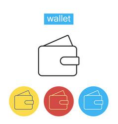 wallet line icon vector image