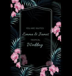 wedding tropical invitation floral invite card de vector image