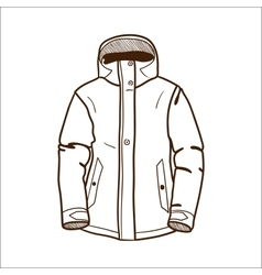 Winter sport jacket isolated on white vector image