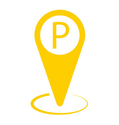 Yellow taxi icon map pin taxi parking vector