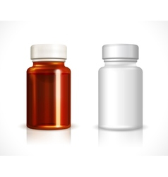 Blank plastic and glass bottle vector image