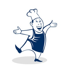 Cartoon Happy Asian chef cook baker vector image vector image