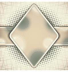 Cloth retro style background vector image