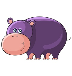 Hippo Cartoon african wild animal character vector image
