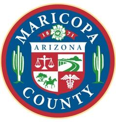 Maricopa county seal vector image