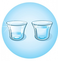 shot glass with clear water vector image