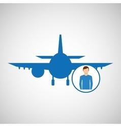 travel concept passenger traveler hotel vector image